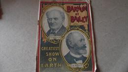 CIRQUE BARNUM ET BAILEY, Programme Officiel Saison  1902,  Greatest Show On Earth - Programas