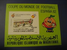 MAURITANIE Football 1982 Spain World Championship Cup MAURITANIA Air Bloc Proof Eppreuve Imperforated Soccer - Mauritanie (1960-...)