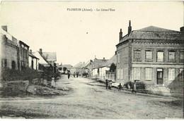 PLOMION (Aisne) - La Grand'Rue - 1932 - TBE - R/V - Other Municipalities