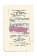 DD 267. MARIE-ELISABETHA  OYEN - °LUMMEN 1806 / + BEVERLOO 1864 - Images Religieuses