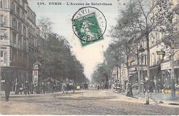 75 - PARIS 18 ème - L'Avenue De Saint Ouen ( Animation Commerces )  CPA Colorisée - Seine - Distretto: 18