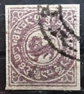 TIBET , Chine China 1913, Yvert No 14,  3 K Violet  , Obl  Effigie Dégagée,  TTB - 1912-1949 République