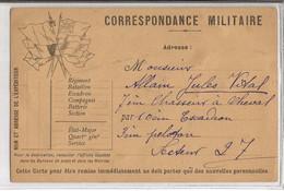 CORRESPONDANCE MILITAIRE  /  Fleur Du Pays Séchée  /  Envoi à Jules Vidal 7e Chasseurs à Cheval 10e Escadron Secteur 27 - FM-Karten (Militärpost)