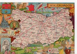 N° 14 - CALVADOS -  - Département Illustré Par PINCHON (Créateur De Bécassine) - Ohne Zuordnung