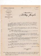 2 Documennts 1922-1923 Crédit Lyonnais Lyon - Banca & Assicurazione