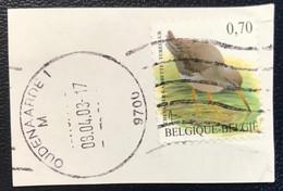 België - Belgique - P3/15 - (°)used - 2002 - Michel 3187 - Tureluur - Common Redshank - Chevalier Gambette - Oudenaarde - 1985-.. Uccelli (Buzin)