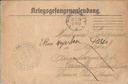 CARTE EN FRANCHISE  /  Envoi  Du  Camp  De Prisonniers  De  MÜNSTER  ( ALLEMAGNE )  En  1917 - FM-Karten (Militärpost)