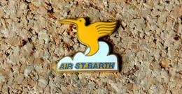 Pin's AVION - Compagnie Aérienne AIR Saint BARTH Oiseau Mouche - EMAIL - Fabricant Inconnu - Aerei