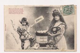BERGERET NANCY - Nouvelle Année Femme Et Enfant - 1906 - - Bergeret