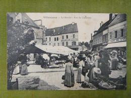 VILLENAUXE - Le Marché - Rue Du Cimetière (Très Animée) - Autres Communes