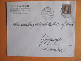 J. P. KAYSE  HORLOGERIE BIJOUTERIE LUNETTERIE OPTIQUE,ESCH/ALZETTE.LETTRE AVEC NO 98 POUR GÖPPINGEN. - 1914-24 Marie-Adélaïde