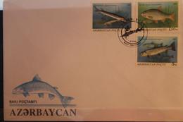 Fische; Block 3, MiNr. 98-103; 1993,  3 FDC - Azerbaïjan