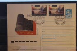 Ganzsache Mädchenturm Mit Überdruckmarken , MiNr. 70; 1992,  FDC - Azerbaïjan