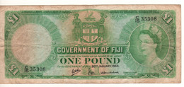 FIJI  1 Pound  P53f   Dated 20th January  1964   ( Queen Elizabeth II ) - Figi