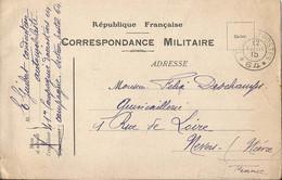 CORRESPONDANCE MILITAIRE  /  Envoi  En 1915  à  NEVERS  ( Niêvre ) De La  41e  Cie D ' Aérostiers Secteur Postal 64 - FM-Karten (Militärpost)