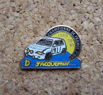 PINS  RALLYE CHAMPIONNE DE FRANCE 1989 - 90 - 91 CITROEN TOTAL LAURENT LA BASSEE D. JACQUEMIN - Rallye