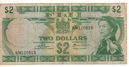 FIJI  2 Dollar   P72b      ( ND  1974   Queen Elizabeth II -  ) - Figi