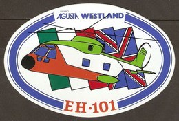 AUTOCOLLANT ADHÉSIF STICKER HÉLICOPTERE EH 101 GRUPPO AGUSTA WESTLAND - Helicopters