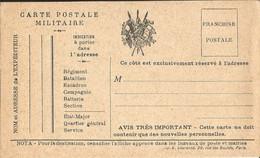 CARTE  POSTALE  MILITAIRE  /  Carte  Neuve  /  Drapeaux - FM-Karten (Militärpost)