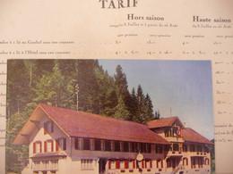 """Ancien Vieux Dépliant - Publicitaire Publicité HOTEL GASTHOF - Wiggen - SUISSE  """" Hôtel Gasthof Sans Eau Courante """" - Tourism Brochures"""