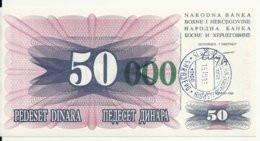 BOSNIE HERZEGOVINE 50000 DINARA 1993 UNC P 55 E - Bosnia Erzegovina