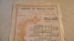 LIMOGES, Programme Des NOUVELLES GALERIES, Exposition, 1902 ? - Programas