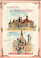 3 Chromos Belle Illustration Château De Fontainebleau ,de Pierrefonds ,De Chambord - Lombart