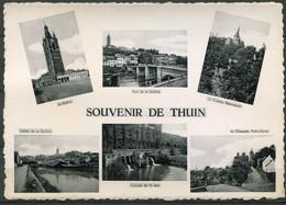 Souvenir De Thuin  - 6 Photo's Sur Carte  - Ed. Huaux - Ongelopen Kaart - Thuin