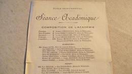 LIMOGES,  Ecole Saint Martial , Séance Académique, 1902 Ou 1903 - Programas