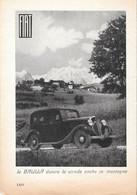 FIAT. La Balilla Divora La Strada Anche In Montagna. Advertising 1935 - Prenten & Gravure