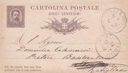 ITALIA - REGNO - INTERO POSTALE  10 C - VIAGGIATO PER STIGLIANO (MATERA) - Postwaardestukken