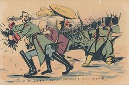 FOUS LE CAMP VOILA L'OURAGAN QUI S'AVANCE (DESSIN DE MARTIN) - Patriottisch