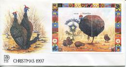 Namibia Mi# Block 30 Used On FDC - Fauna Birds - Namibia (1990- ...)