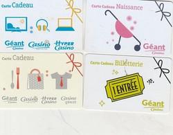 GEANT CASINO 4 CARTES - Frankreich