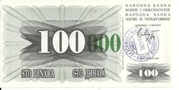 BOSNIE HERZEGOVINE 100000 DINARA 1993 UNC P 56 I - Bosnia Erzegovina