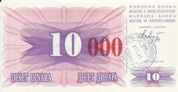 BOSNIE HERZEGOVINE 10000 DINARA 1993 UNC P 53 H - Bosnia Erzegovina
