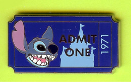Pin's BD Disney Stitch Ticket (Billet /Coupon D'admission) - 1E03 - Disney