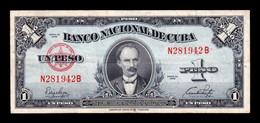 Cuba 1 Peso José Martí 1949 Pick 77a T. 942 MBC VF - Cuba
