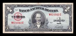 Cuba 1 Peso José Martí 1949 Pick 77a T. 041 MBC VF - Cuba