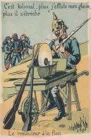 C'EST KOLOSSAL PLUS J'AFFUTE MON GLAIVE PLUS IL S'EBRECHE -  LE REMOULEUR A LA FLAN (DESSIN DE A.LOGO) - Patriottisch