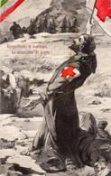 """° Cartolina Patriotica """" Rispettate , O Barbari , La Missione Di Pietà """" - Patriottiche"""