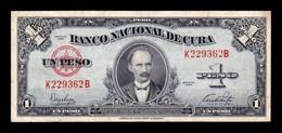 Cuba 1 Peso José Martí 1949 Pick 77a T. 362 MBC VF - Cuba