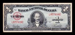 Cuba 1 Peso José Martí 1949 Pick 77a T. 416 MBC VF - Cuba