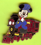 Pin's BD Disney Mickey Chef De Train Locomotive - 1E08 - Disney