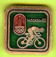 Pin's /Broche Cyclisme Vélo JO Jeux Olympiques Mockba 80 - 1E12 - Ciclismo