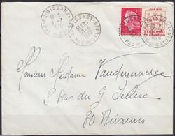 PERIGUEUX 1ere émission  Y.et.T. Num 1643 SEUL Sur Enveloppe De 62 WISSANT  Le 30 6 1970 Pour  80 AIRAINES - Marcophilie (Lettres)