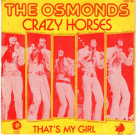 Disque - The Osmonds - Crazy Horses - MGM 2006142 - France 1972 - Rock