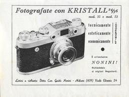 Fotografate Con Kristall 24x36.  Advertising 1953 - Prenten & Gravure