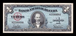 Cuba 1 Peso José Martí 1960 Pick 77b MBC/+ VF/+ - Cuba