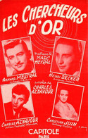 AZNAVOUR DECKER MESTRAL - LES CHERCHEURS D'OR - 1953 - EXCELLENT ETAT PROCHE DU NEUF  - - Música & Instrumentos
